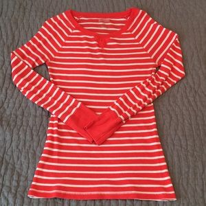 Large coral and white striped thermal